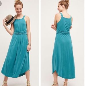 NWT Anthropologie Maeve Maxi Dress Teal S